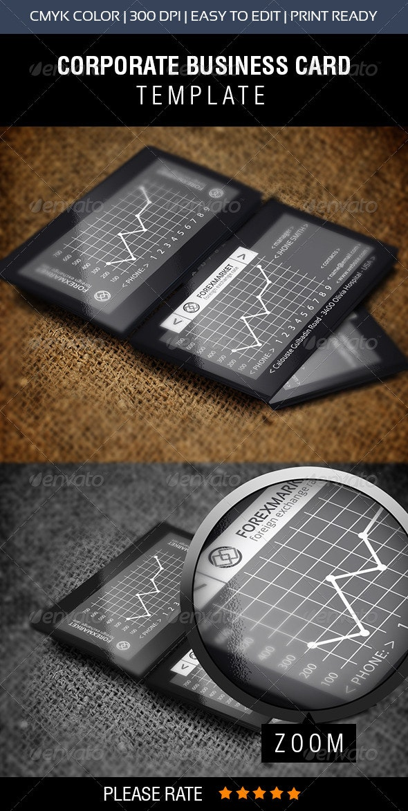 Forex Market Business Card - Creative Business Cards