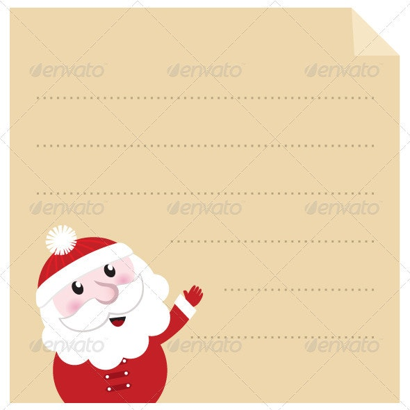 Letter to Santa - Old Paper Parchment, Vector - Christmas Seasons/Holidays
