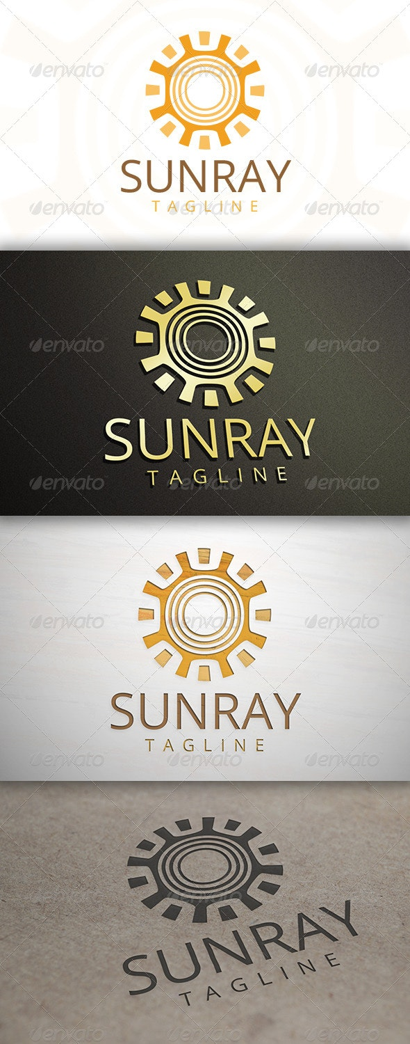 Sun Ray Logo - Nature Logo Templates