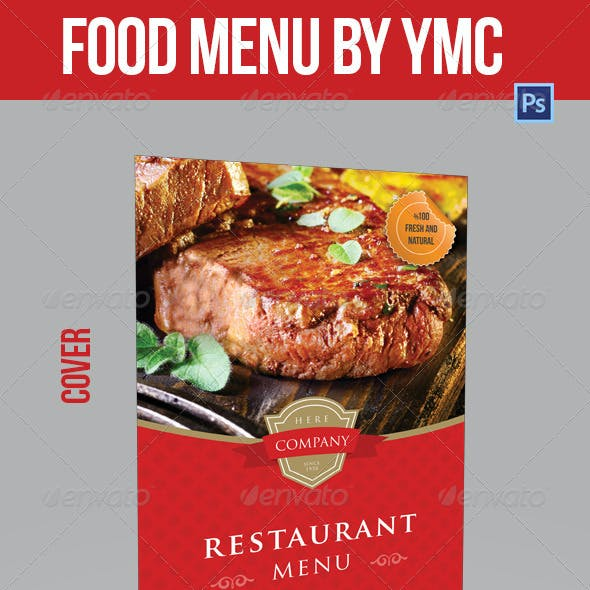 Food Menu Bi-Fold YMC Design