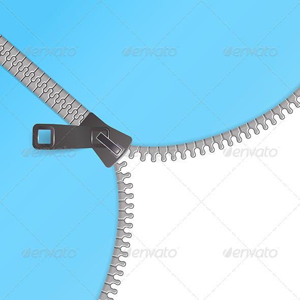 Zipper Vector Background