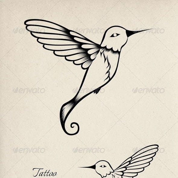 Tattoo Hummingbird Ornament