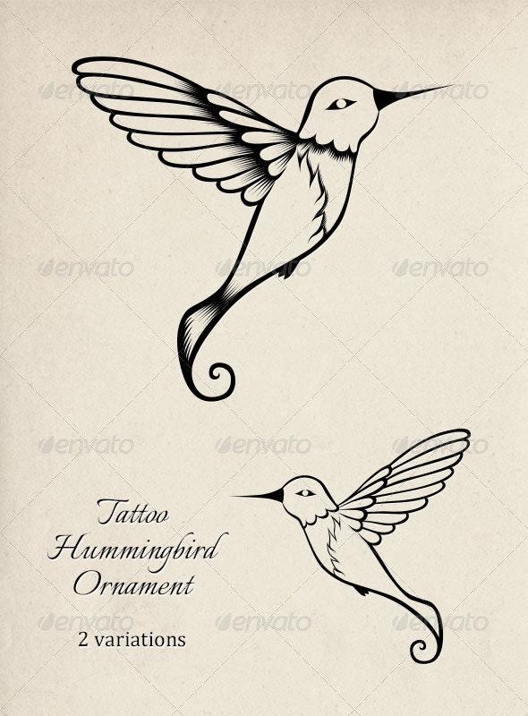 Tattoo Hummingbird Ornament - Animals Characters