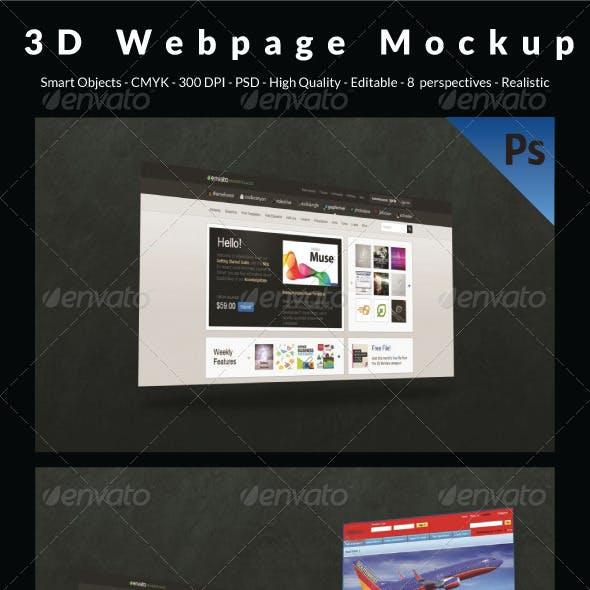 3D Webpage Mockup