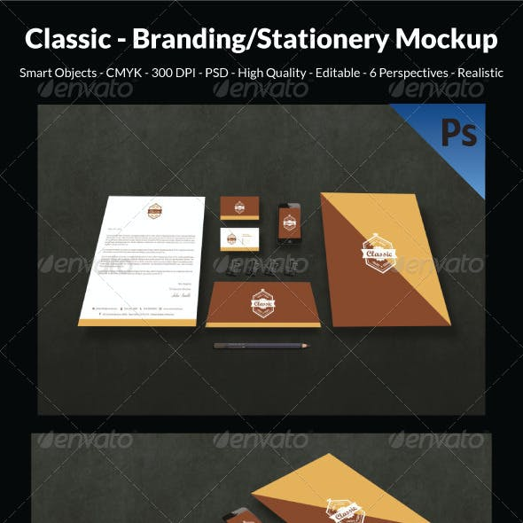 Classic- Branding/Stationery Mockup