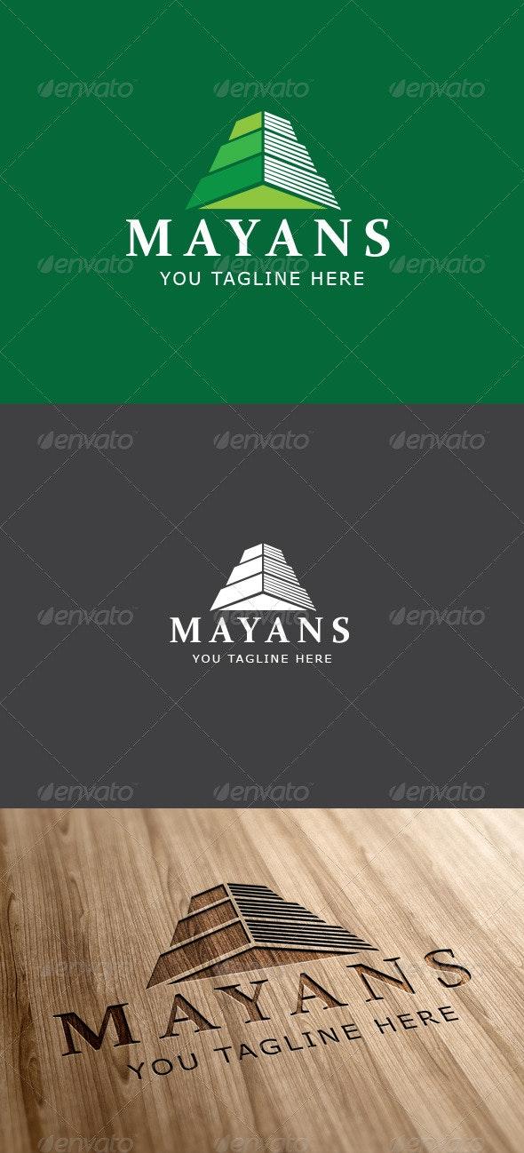 Mayan Ruin Logo Template - Vector Abstract