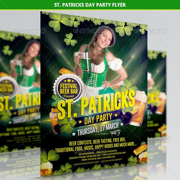 St. Patricks Day Party Flyer