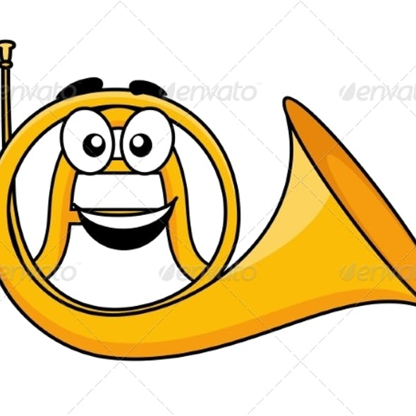 Cartoon French Horn