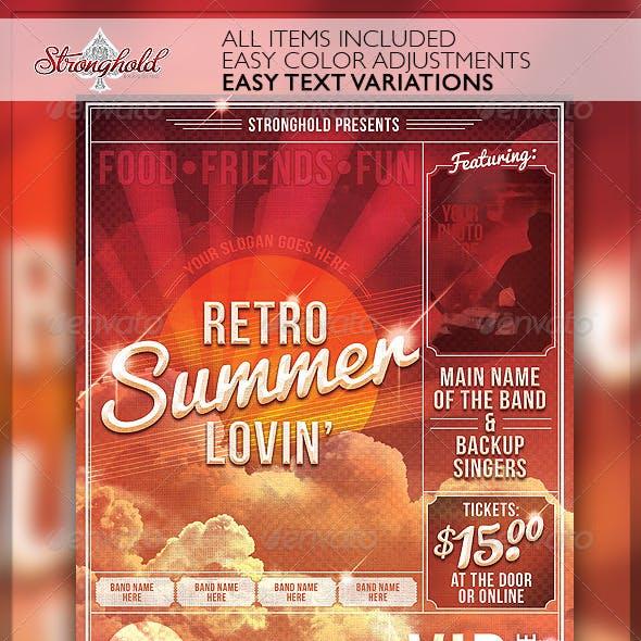 Summer Lovin' Retro Flyer Template