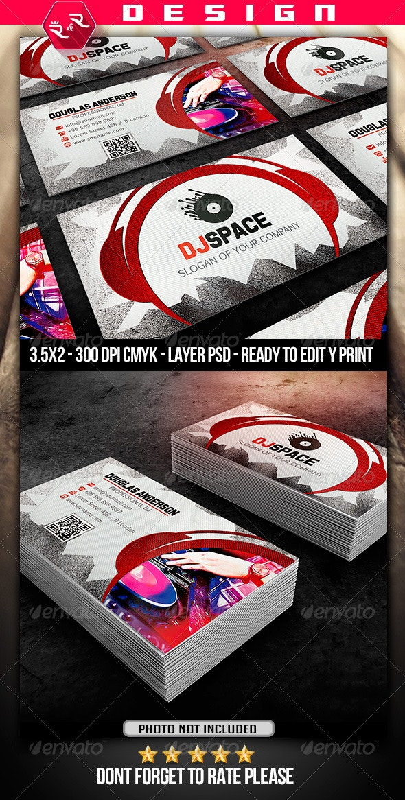 DJ Business Card Template - Industry Specific Business Cards