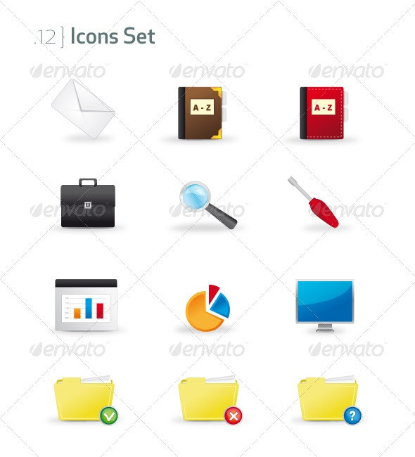 Business & Office Icons Set - Business Icons