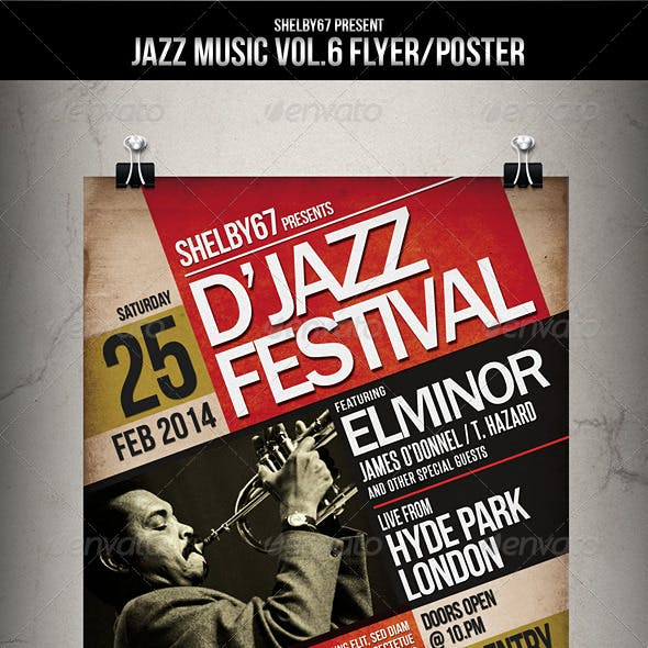 Jazz Music Flyer / Poster Vol.6
