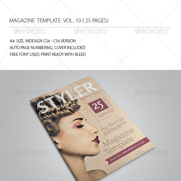 25 Pages Magazine Template Vol10