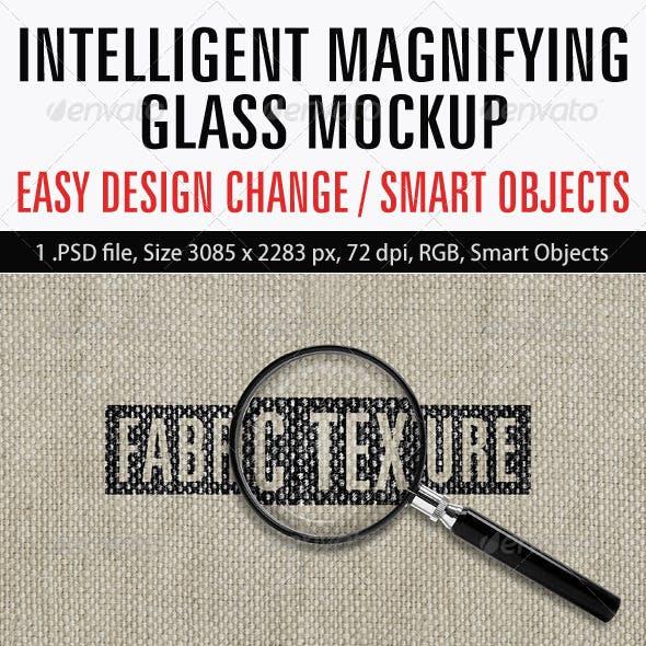 Intelligent Magnifying Glass Mockup