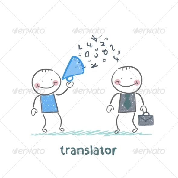 Translator Listens as Businessman Shouts
