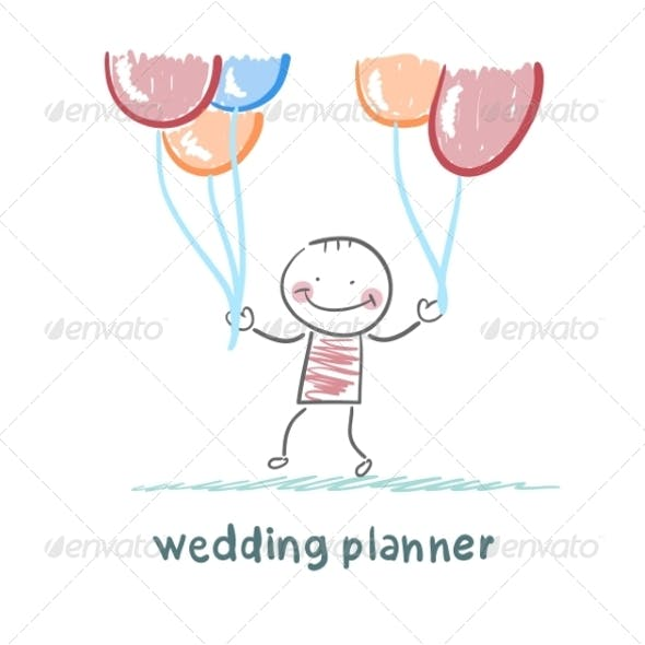 Wedding Planner with Helium Balloons