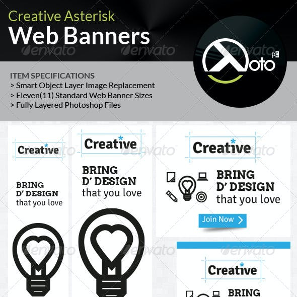 Creative Asterisk Web Banners