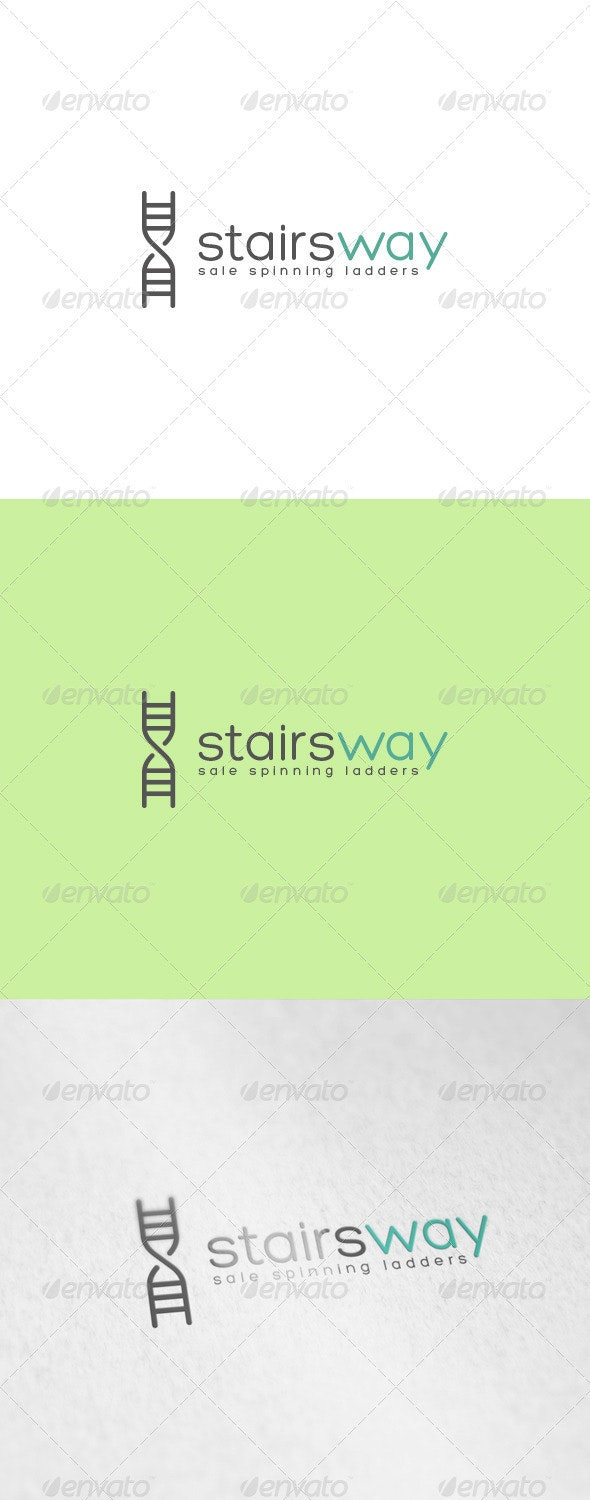 Stairs Way Logo - Letters Logo Templates