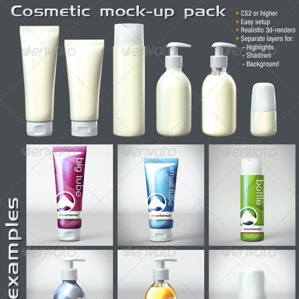 Cosmetic Mock Up Pack