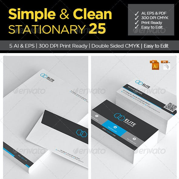 Simple and Clean Stationary 25