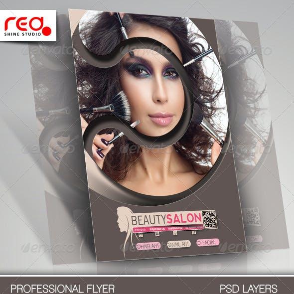 Beauty Salon Promotion Flyer Template