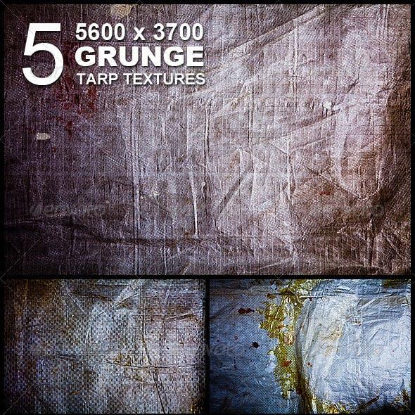 5 Grunge Tarp Hi-Res Textures