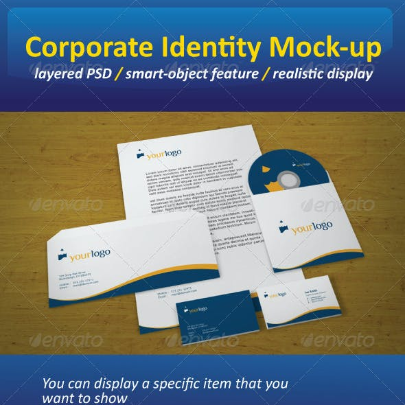 Realistic Corporate Identity Mock-Up