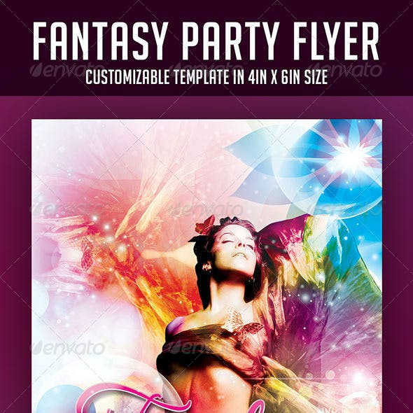 Fantasy Party Flyer