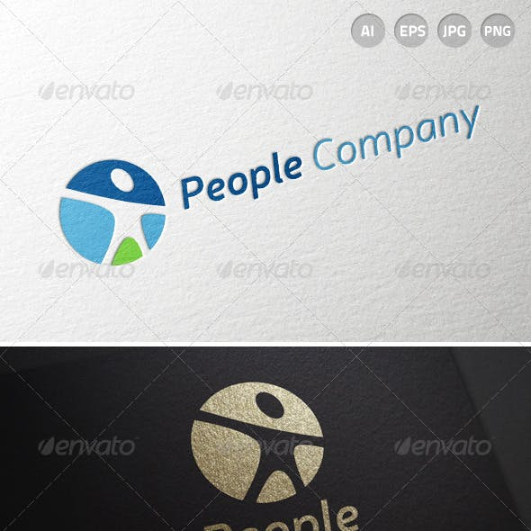 People Human Resources Person logo