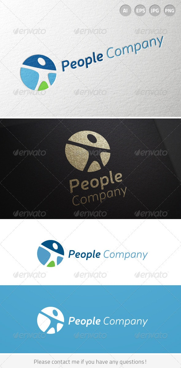 People Human Resources Person logo - Humans Logo Templates