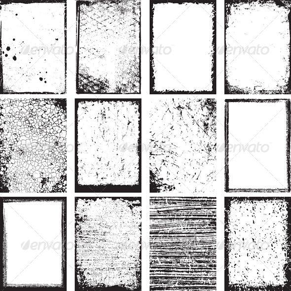 Vector Grunge Backgrounds and Frames