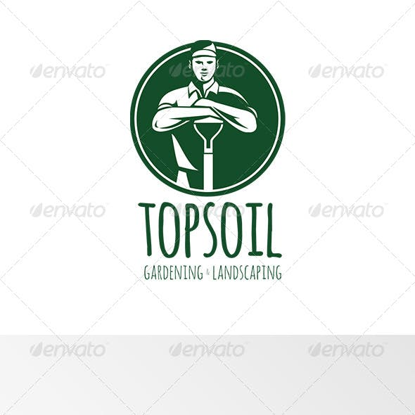 Top Soil Gardening and Landscaping Logo