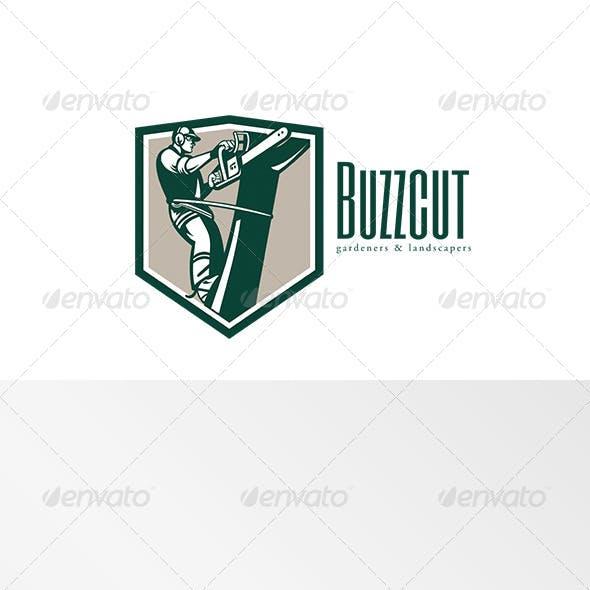 Buzz Cut Gardening Landscaper Logo