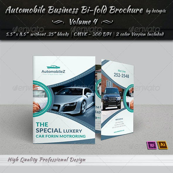 Automobile Business Bi-Fold Brochure | Volume 4