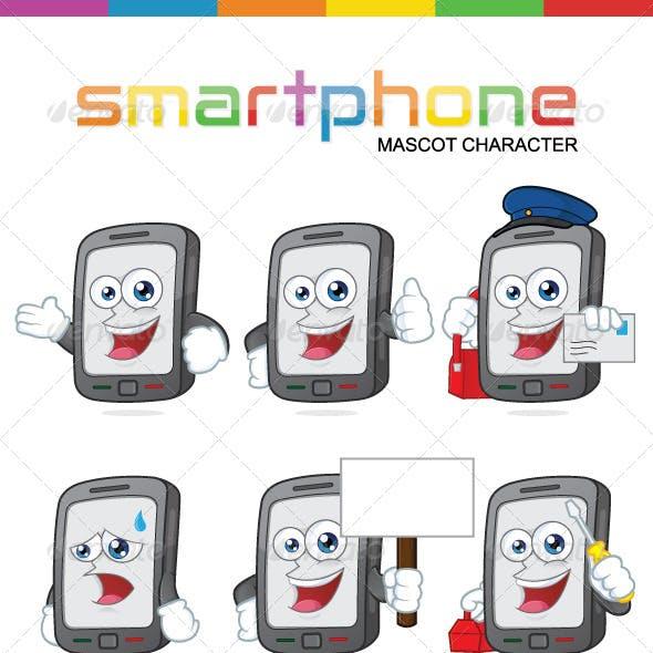 Smartphone Mascot Character