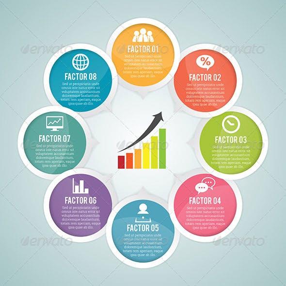 Round Round Infographic Elements