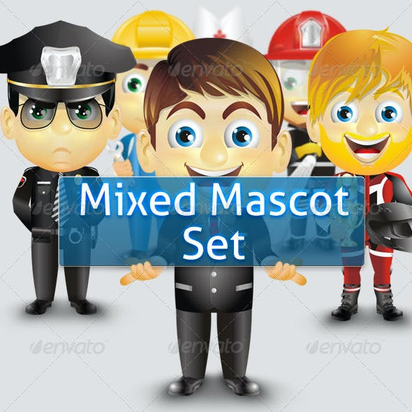 Mixed Mascot Set