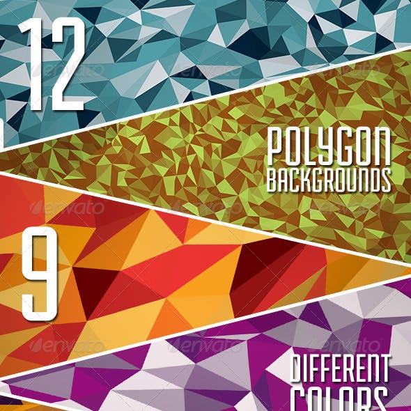 The Abstract Polygon Backgrounds Vol.3
