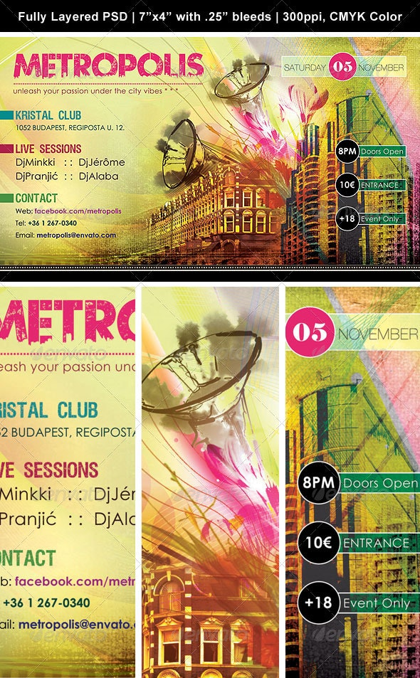 Urban Metropolis Poster/Flyer - Clubs & Parties Events