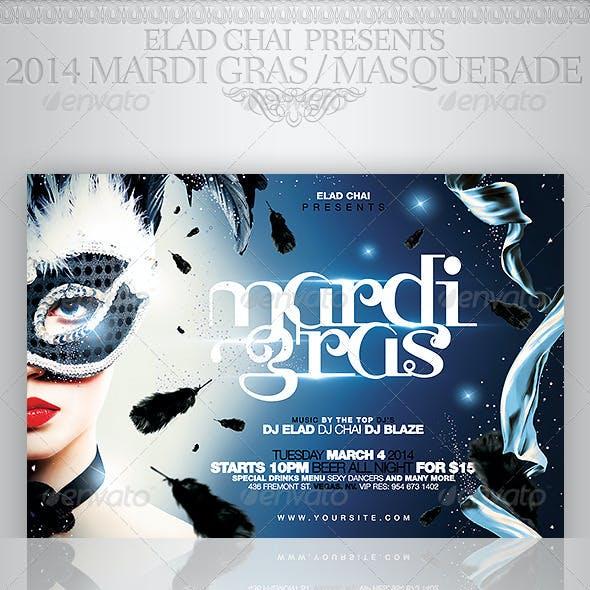 2015 Mardi Gras & Masquerade Flyer Template