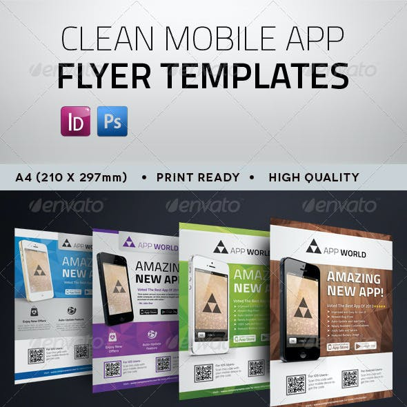 Clean Mobile App Flyer