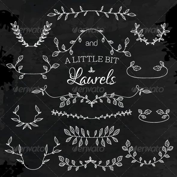 Laurels and Floral Frames Set