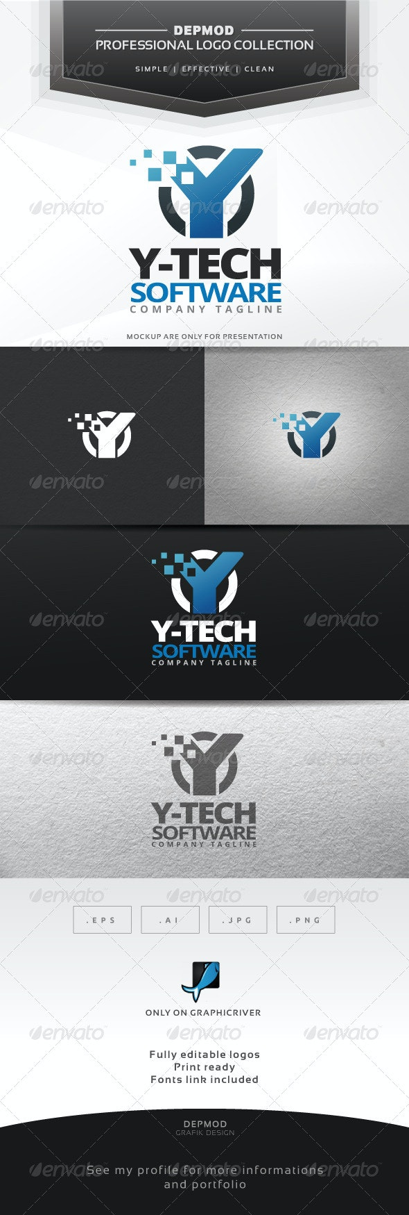 Y-Tech Software Logo - Letters Logo Templates
