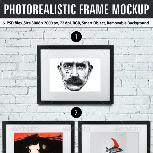 Photorealistic Frame Mockup
