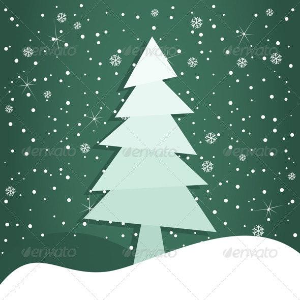 Celebratory tree3 - Christmas Seasons/Holidays
