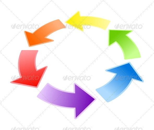 Circulation of arrows - Miscellaneous Vectors