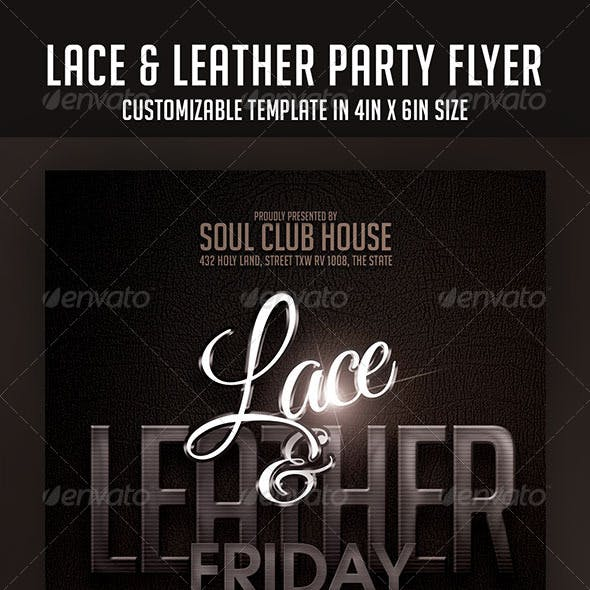 Lace and Leather Party Flyer