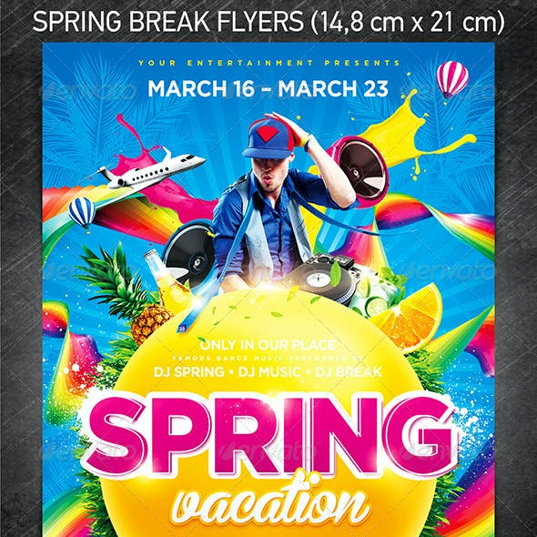 Spring Break Party Flyer Bundle