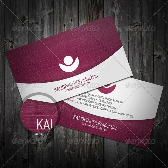 Violet Business Card - Corporate Business Cards