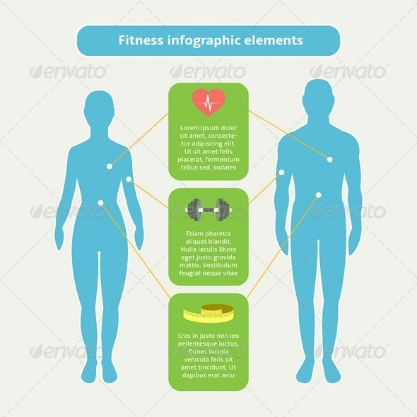 Infographic Elements for Fitness and Sports